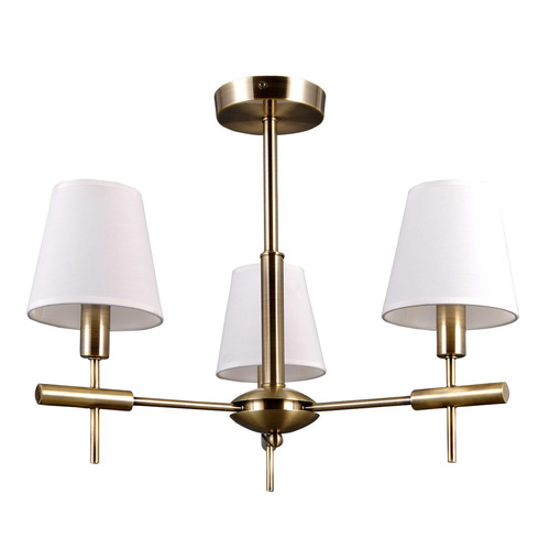Stilisierte Gold Balter E14 Kronleuchter 3-Birne