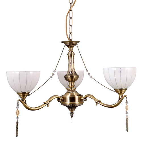 Stilisierte Gold Kronleuchter Baxio E27 3-Birne