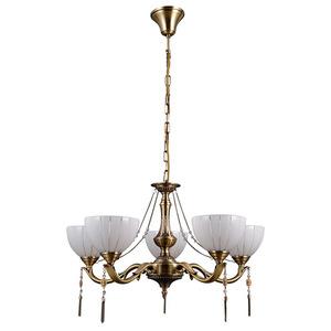 Gold gestylter Baxio E27 Kronleuchter mit 5 Glühbirnen small 1