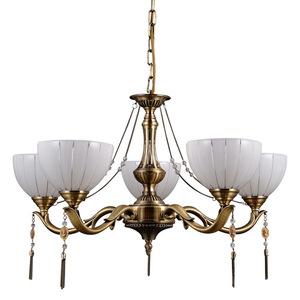 Gold gestylter Baxio E27 Kronleuchter mit 5 Glühbirnen small 0