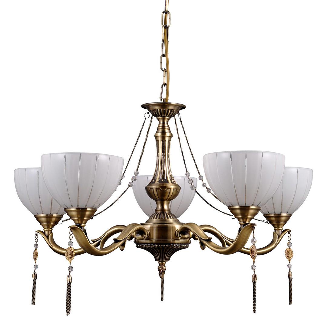Gold gestylter Baxio E27 Kronleuchter mit 5 Glühbirnen