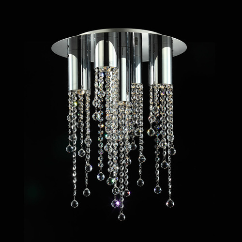 Klassische Larix GU10 5-Punkt-Deckenleuchte mit Kristallen