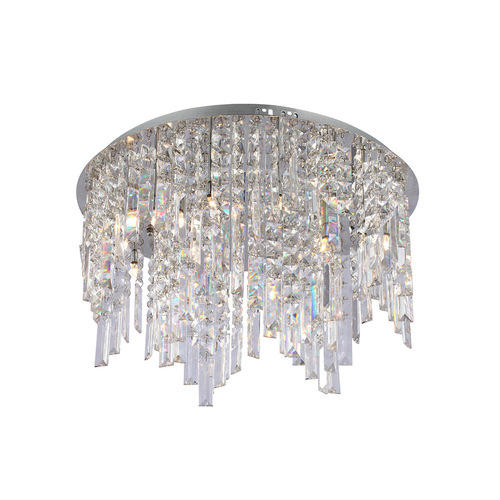 Klassische 12-Punkt-Deckenleuchte Minya G4 Crystals
