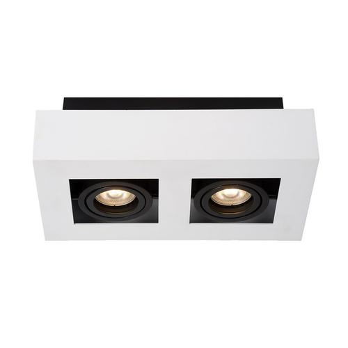 Weiße Casemiro GU10 2-Lampen-Oberflächenlampe