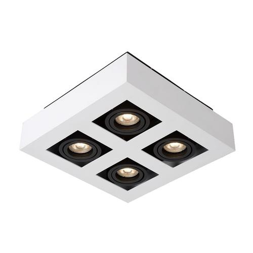 Weiße Casemiro GU10 4-Lampen-Oberflächenlampe