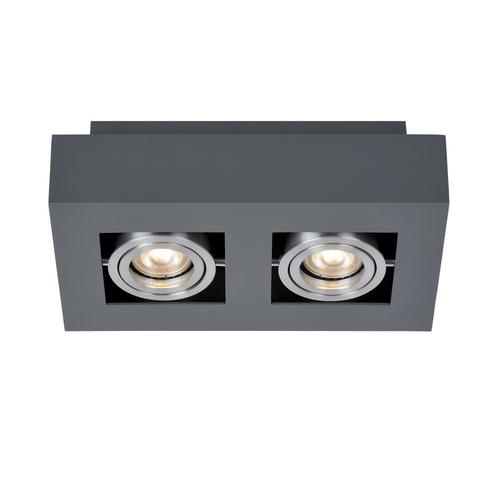 Schwarze Casemiro GU10 2-Lampen-Oberflächenlampe