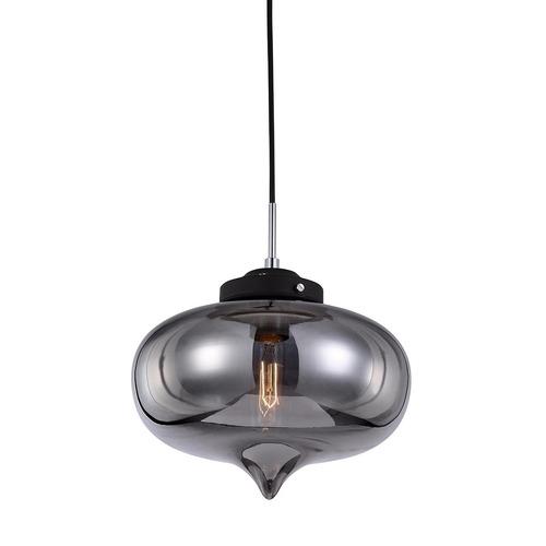 Schwarzes hängendes Lampenherz E27