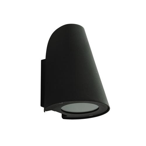 Moderne Außenwandleuchte Alba Black E27