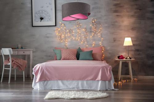 Hängende Jugendlampe Elegance 60W E27 grau / Farben