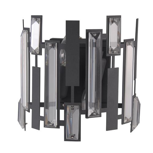 Schwarze moderne Lukas E14 2-Lampen-Wandleuchte