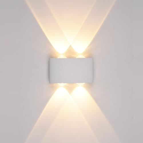 Weiße Gilberto LED Außenwandleuchte