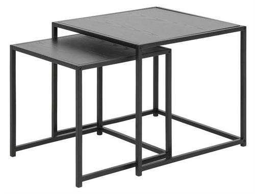 ACTONA Tischset SEAFORD schwarz - MDF, Metall
