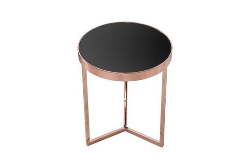 INVICTA Tisch ART DECO 50 cm, Kupfer - Glas, Metall