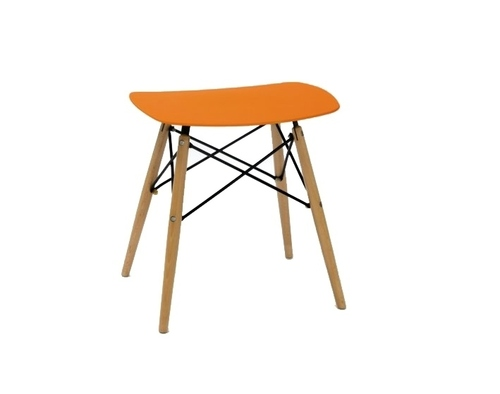 HANDY orange Hocker - Polypropylen, Buche