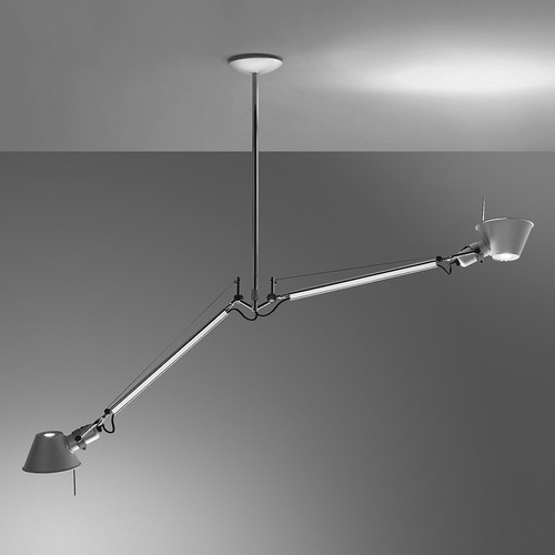 ARTEMIDE TOLOMEO DUE BRACCI SUSPENSION Aluminium