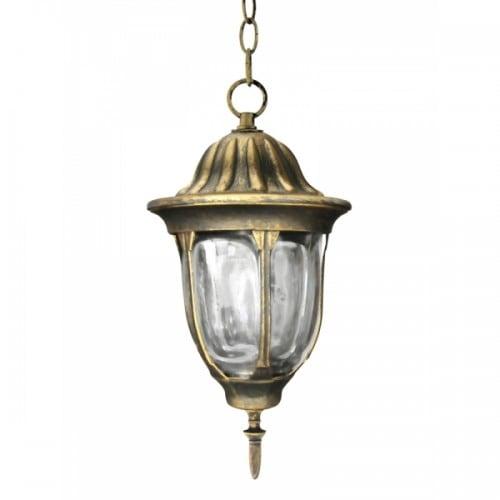 Hängende Gartenlampe POLUX FLORENCE Patina