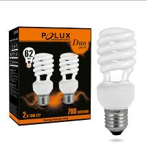 Energiesparlampe PolUX Duopack T2 11W E27 2700K