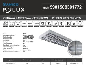 Rux LED Aufbau poliert Polux ProBUS M12A39KMCW120x30 small 1