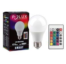 LED POLUX SMART A60 E27 SMDWW RGB 6W 470lm + Fernbedienung