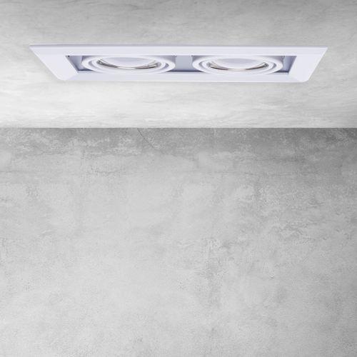 Weiße Einbauleuchte Blocco White 2x7 W Gu10 Led