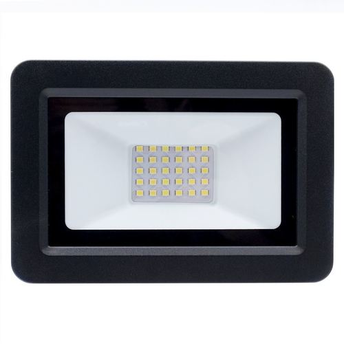 Schwarzer LED-Scheinwerfer 30W. Farbe: 6000K IP65
