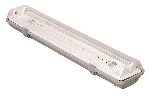 Hermetische Leuchte 2x18 W Elektronik IP65