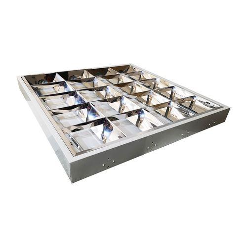 Weiße elektronische Rasterleuchte 4x18 W.