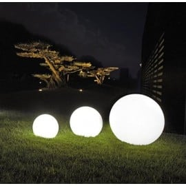 Dekorative Gartenbälle - Luna Balls: 30, 40, 50cm + RGBW Birnen mit Fernbedienung small 1